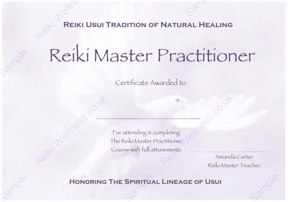 Reiki Certificate Template Free Download New Personalised Plete Set Reiki Certificate Templates X4