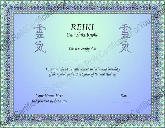 Reiki Certificate Template Free Lovely 2 Color Knotwork Reiki Certificate Template Landscape
