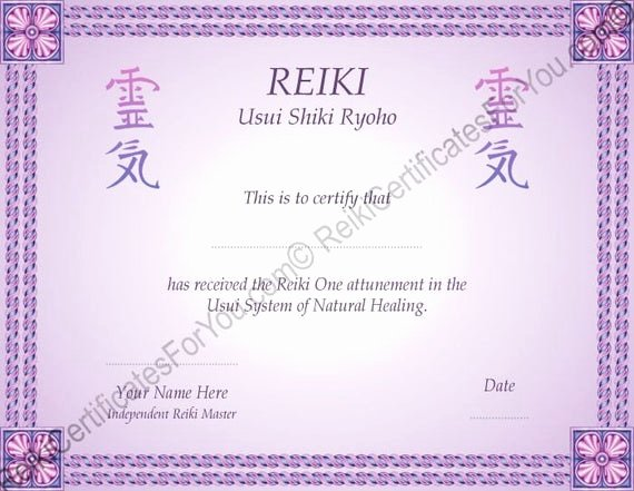 Reiki Certificate Template Free New Border 8 Reiki Certificate Template by Reikicertificates