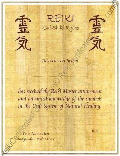 Reiki Certificate Template Free Unique Papyrus Reiki Certificate Template Portrait by