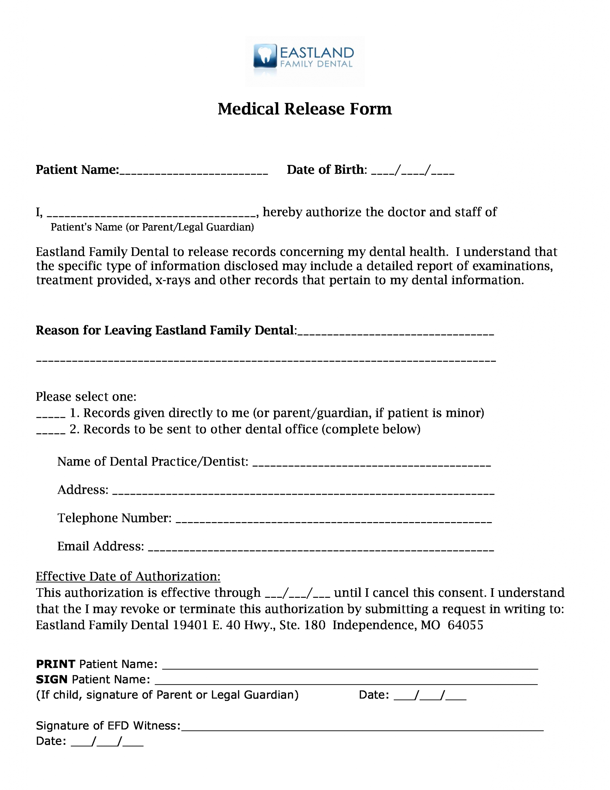 Release Of Medical Records form Lovely Medical Records Release forms – Cnbam
