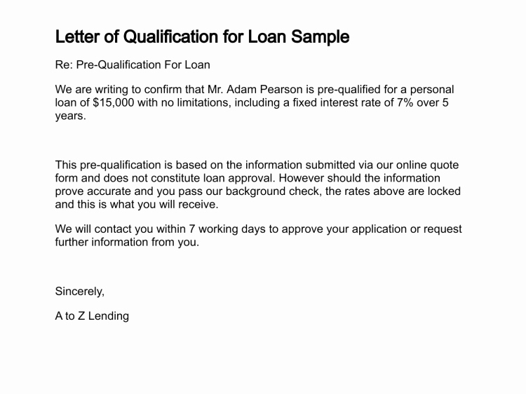 Request for Qualification Sample Luxury Letter Of Qualification