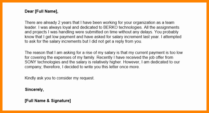 Request for Salary Awesome 6 asking for A Salary Increase Letter