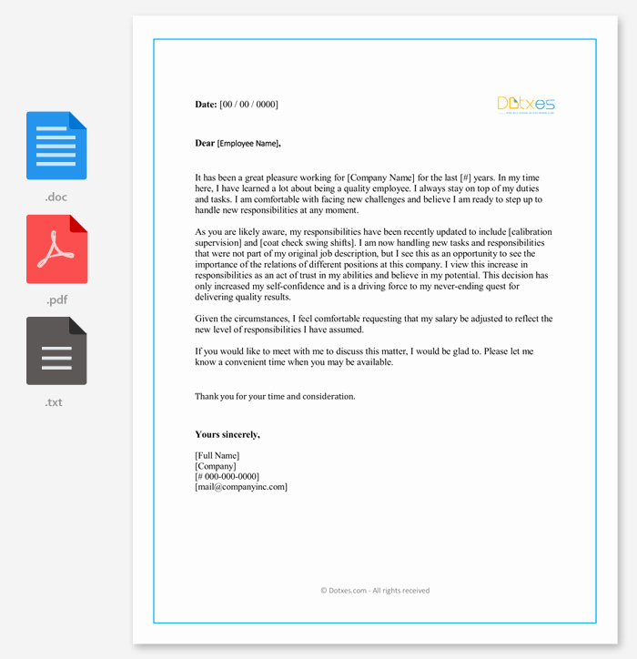 Request for Salary Awesome Salary Increment Letter 14 Best Printable Samples and