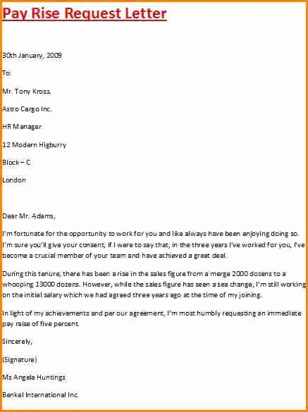 Request for Salary New 8 Sample Letter Requesting Salary Increase