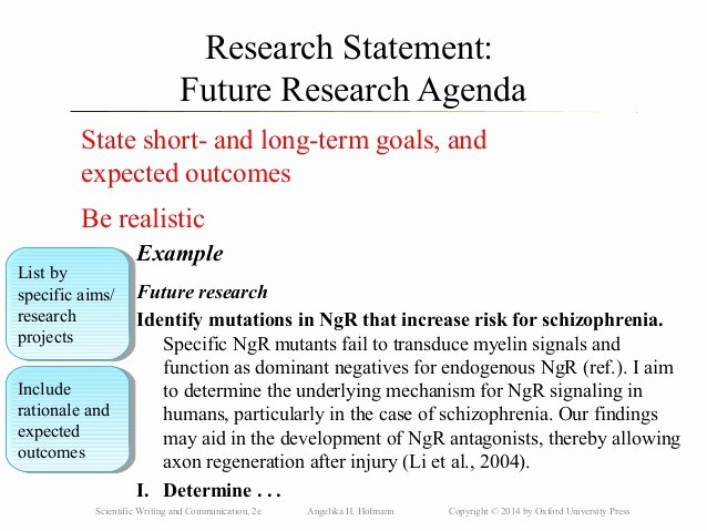 Research Agenda Example Awesome Ch30