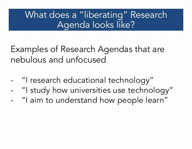 Research Agenda Example Awesome Crafting A Research Agenda