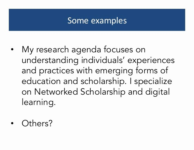 Research Agenda Example Elegant Crafting A Research Agenda