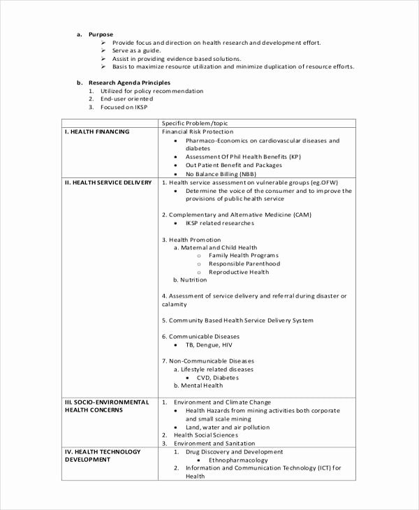 Research Agenda Example Inspirational Free 7 Research Agenda Examples & Samples In Pdf