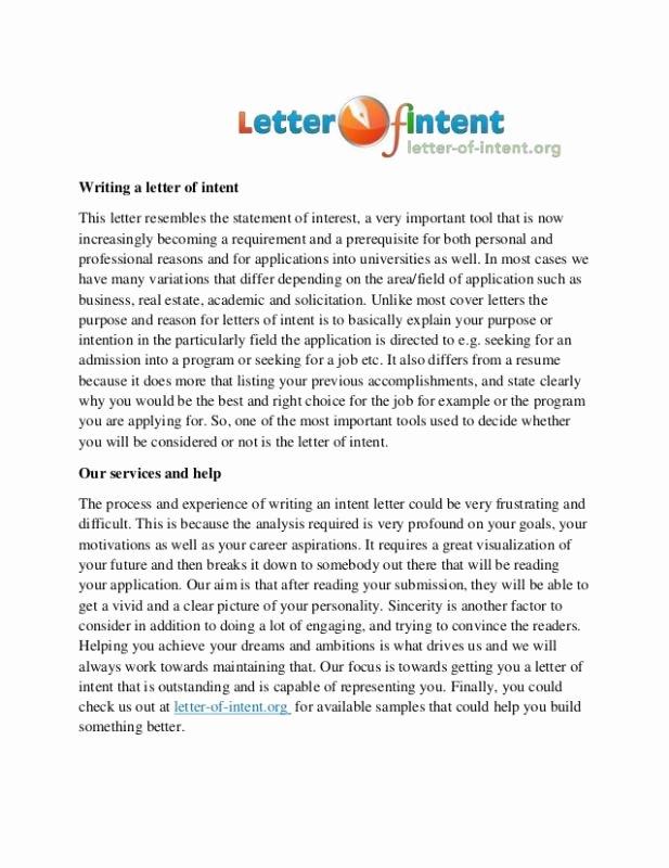 Residency Letter Of Intent Sample Luxury Letter Intent Residency