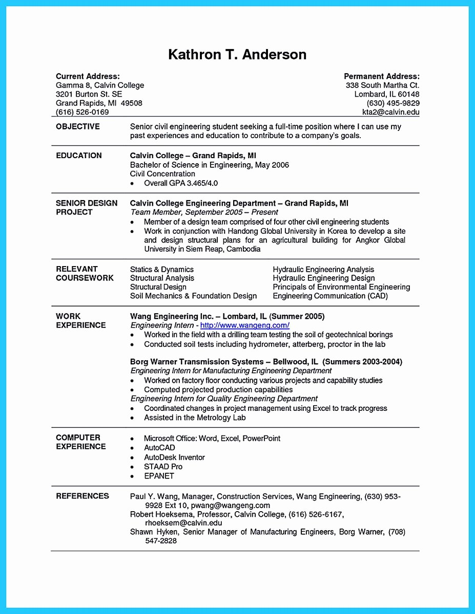 Resume Estimated Graduation Date Awesome Best Current College Student Resume with No Experience