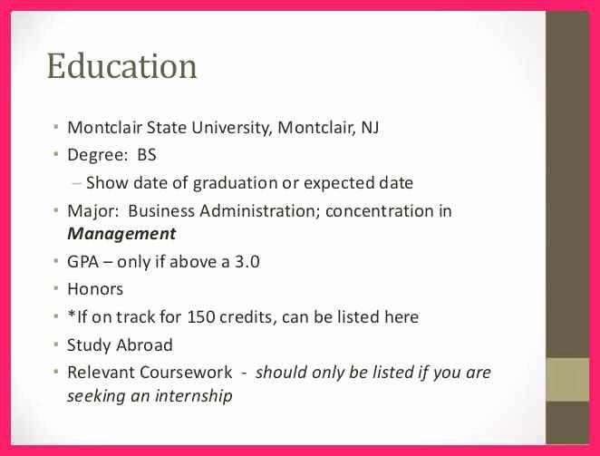Resume Estimated Graduation Date New Resume Expected Graduation