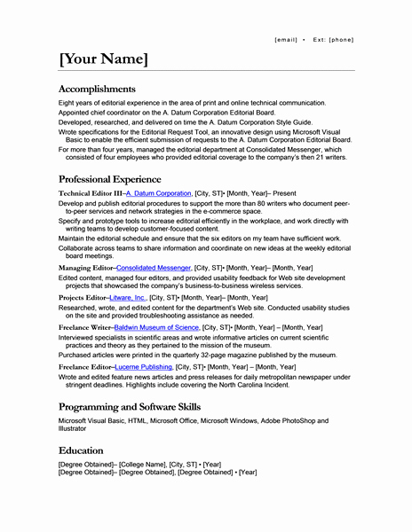 Resume for Promotion within Same Company New 50 Free Microsoft Word Resume Templates for Download