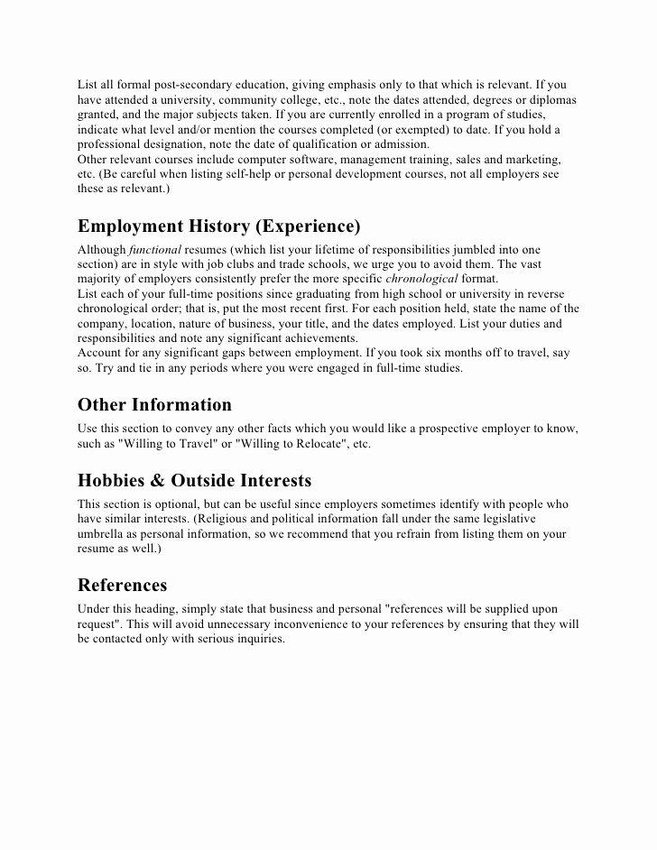 Resume Incomplete Degree Elegant Resume Preparation Tips