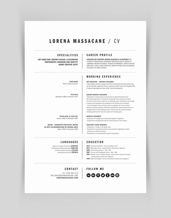 Resume Personal Branding Statement Lovely Personal Branding by Lorena Massacane Via Behance