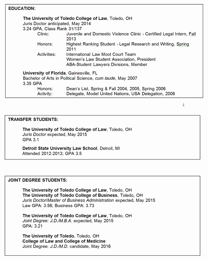 Resume with Honors Lovely Legal Resumes