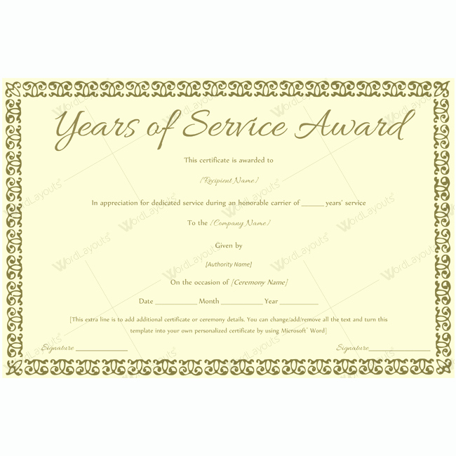 elegant award certificate templates