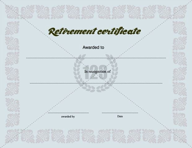Retirement Certificate Templates for Word Best Of Precious Retirement Certificate Template Free Download
