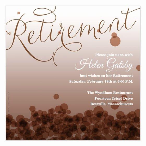 Retirement Certificate Templates for Word Unique Retirement Card Invitation Template