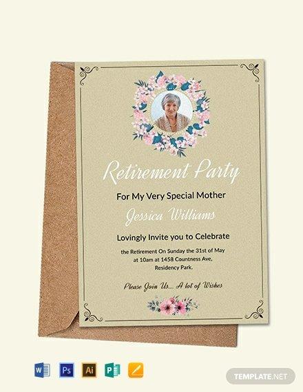 Retirement Invitation Template Word Unique Free Printable Retirement Party Invitation Template