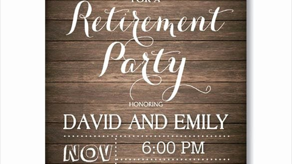 Retirement Invitation Template Word Unique Retirement Party Invitation Templates