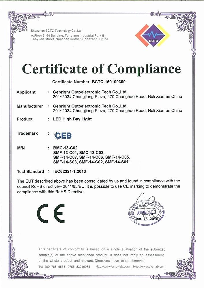 Rohs Compliance Certificate Template Unique Rohs Pliance Certificate