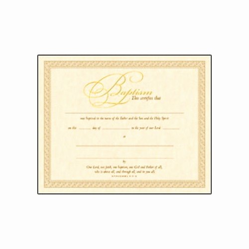 Roman Catholic Baptism Certificate Template Awesome Gold Baptism Certificate