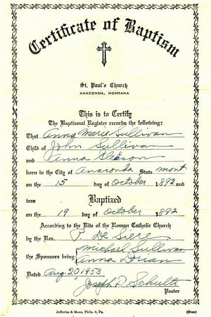 Roman Catholic Baptism Certificate Template Elegant My Trails Into the Past Church Record Sunday Baptism Of