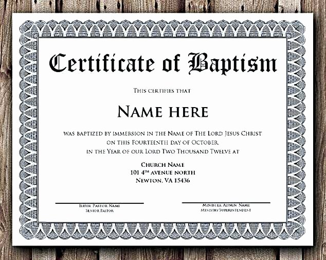 Roman Catholic Baptism Certificate Template Luxury Ideas for Roman Catholic Baptism Certificate Template with