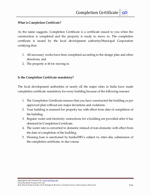 Roofing Certificate Of Completion Template Elegant What is Pletion Certificate and How to Obtain It
