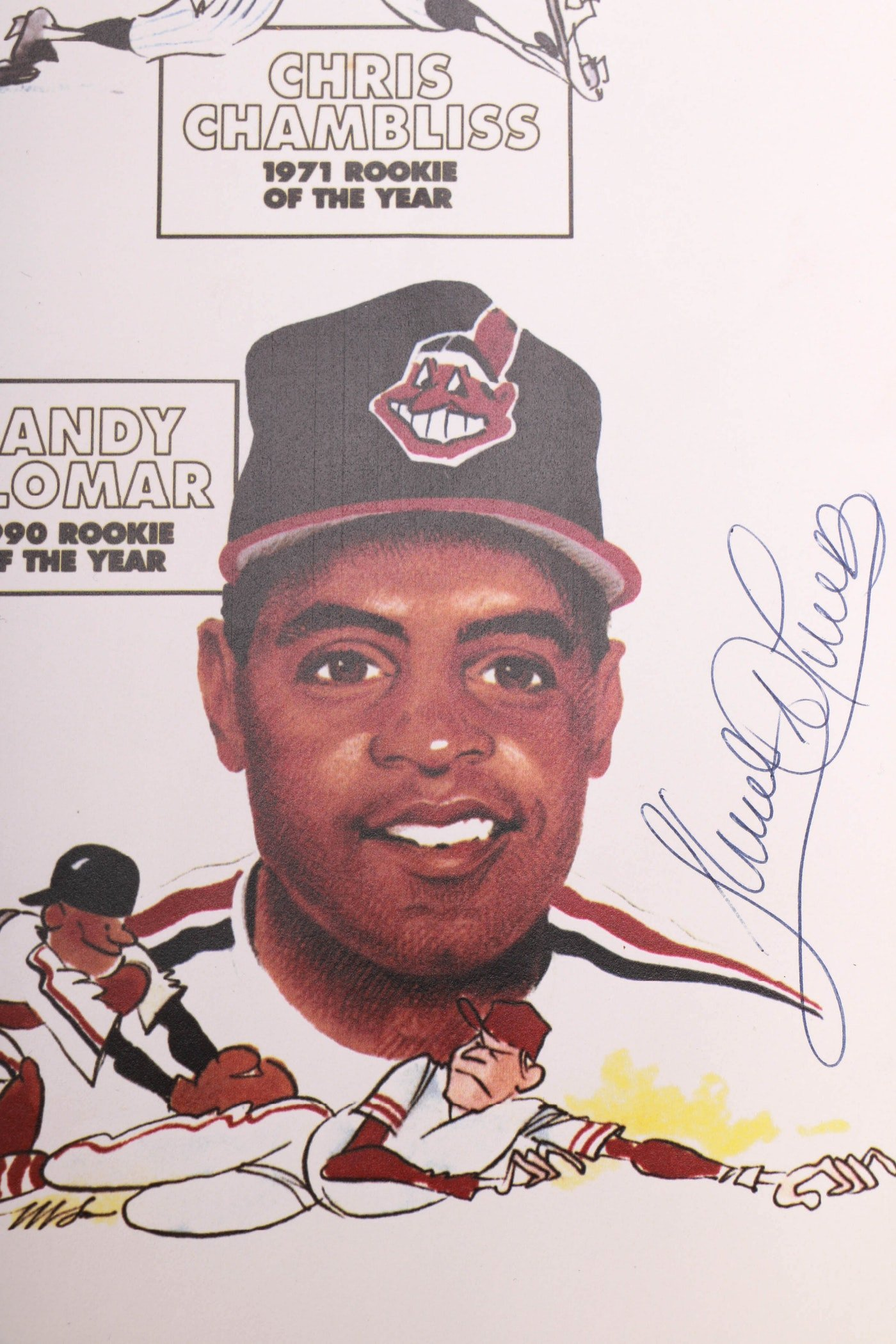 Rookie Of the Year Poster Fresh Herb Score Signed Ball and Cleveland Indians Rookie Of the