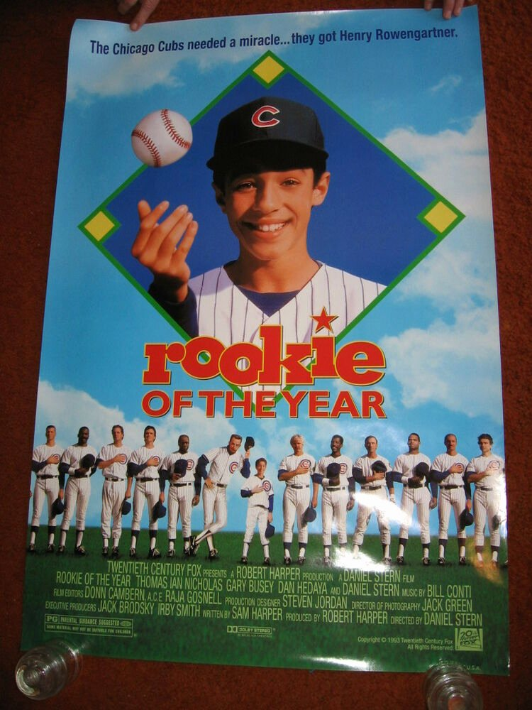 Rookie Of the Year Poster New Rookie Of the Year original Movie Poster Rolled 1993