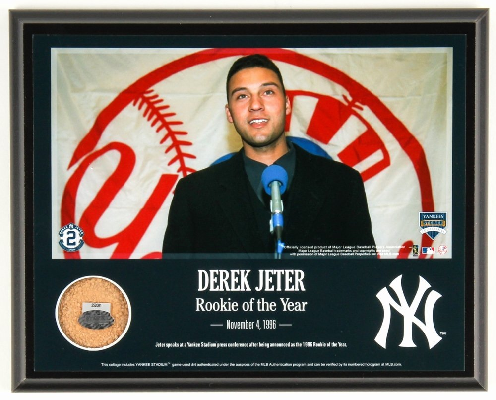 Rookie Of the Year Poster Unique Line Sports Memorabilia Auction