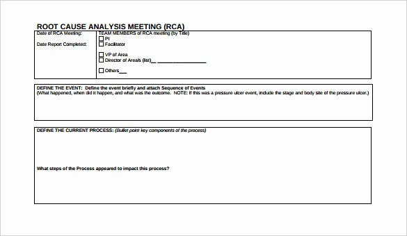 Root Cause Analysis Report form Luxury 29 Root Cause Analysis Templates Word Apple Pages