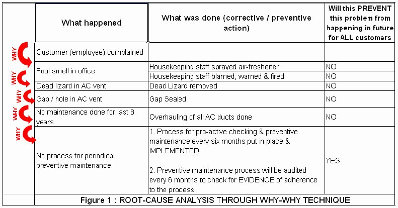 Root Cause Analysis Report form Luxury Root Cause Analysis Part 3 Critical Success Factors