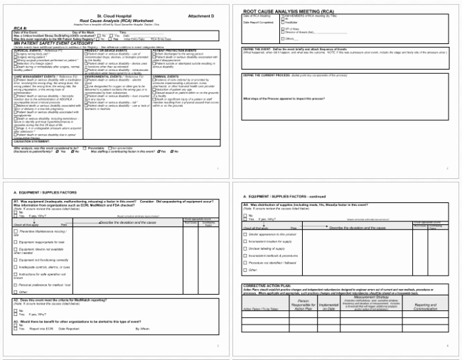 Root Cause Analysis Report form New 24 Root Cause Analysis Templates Word Excel Powerpoint