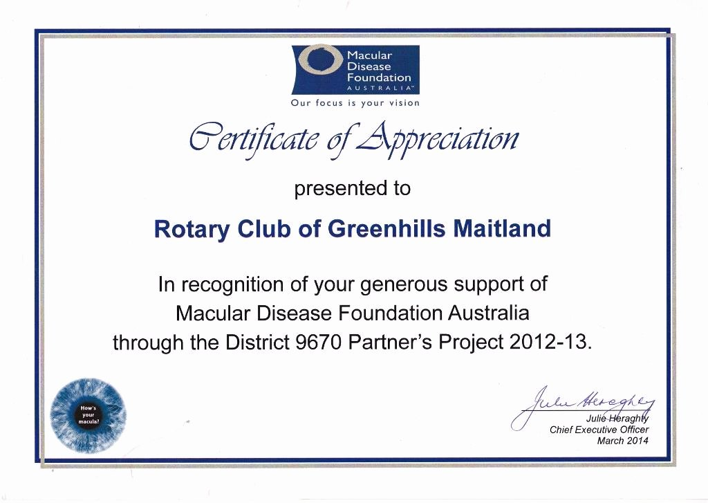 Rotary Certificate Of Appreciation Template Beautiful Certificates Of Appreciation
