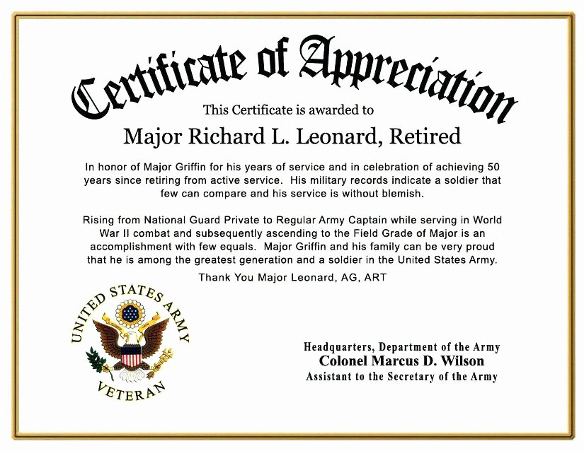 Rotary Certificate Of Appreciation Template Elegant Certificate Of Honor