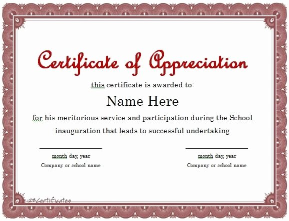 Rotary Certificate Of Appreciation Template Inspirational Certificate Appreciation Lecturer
