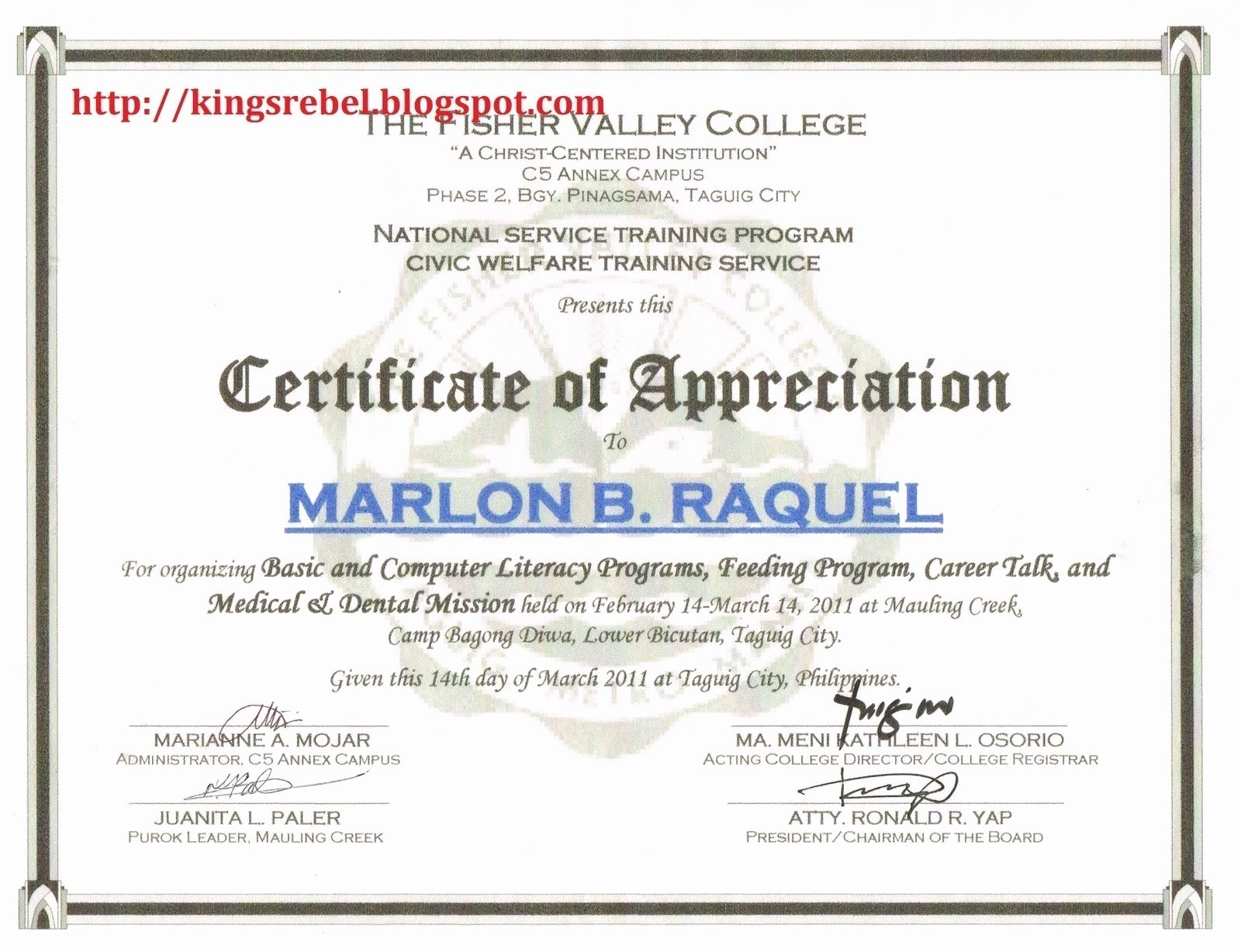 Rotary Certificate Of Appreciation Template Lovely Certif Certificate Appreciation Citation Examples