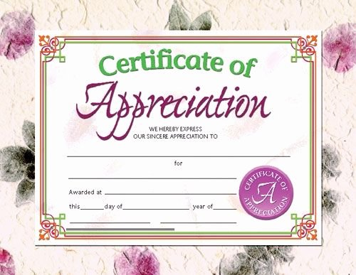 Rotary Certificate Of Appreciation Template Luxury Printer Patible Certificates & Awards Certificate Of