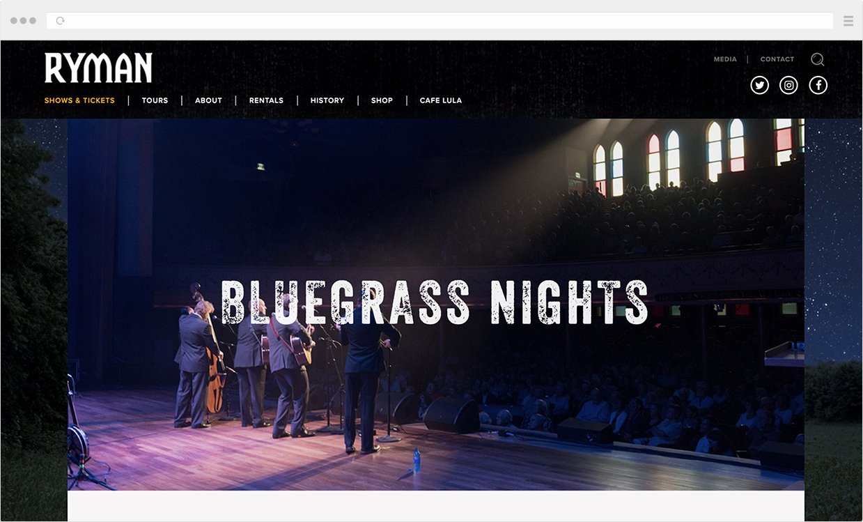 Ryman Auditorium Layout Lovely Ryman Website Design Designups Powered Wordpress Website