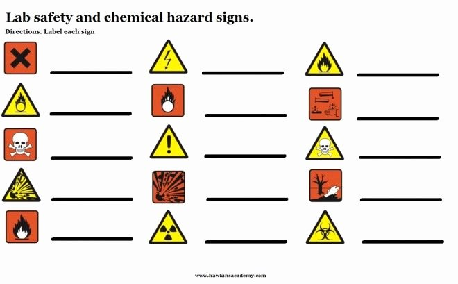 Safety Symbols Worksheet Inspirational Lab and Chemical Hazards Signs Free Download