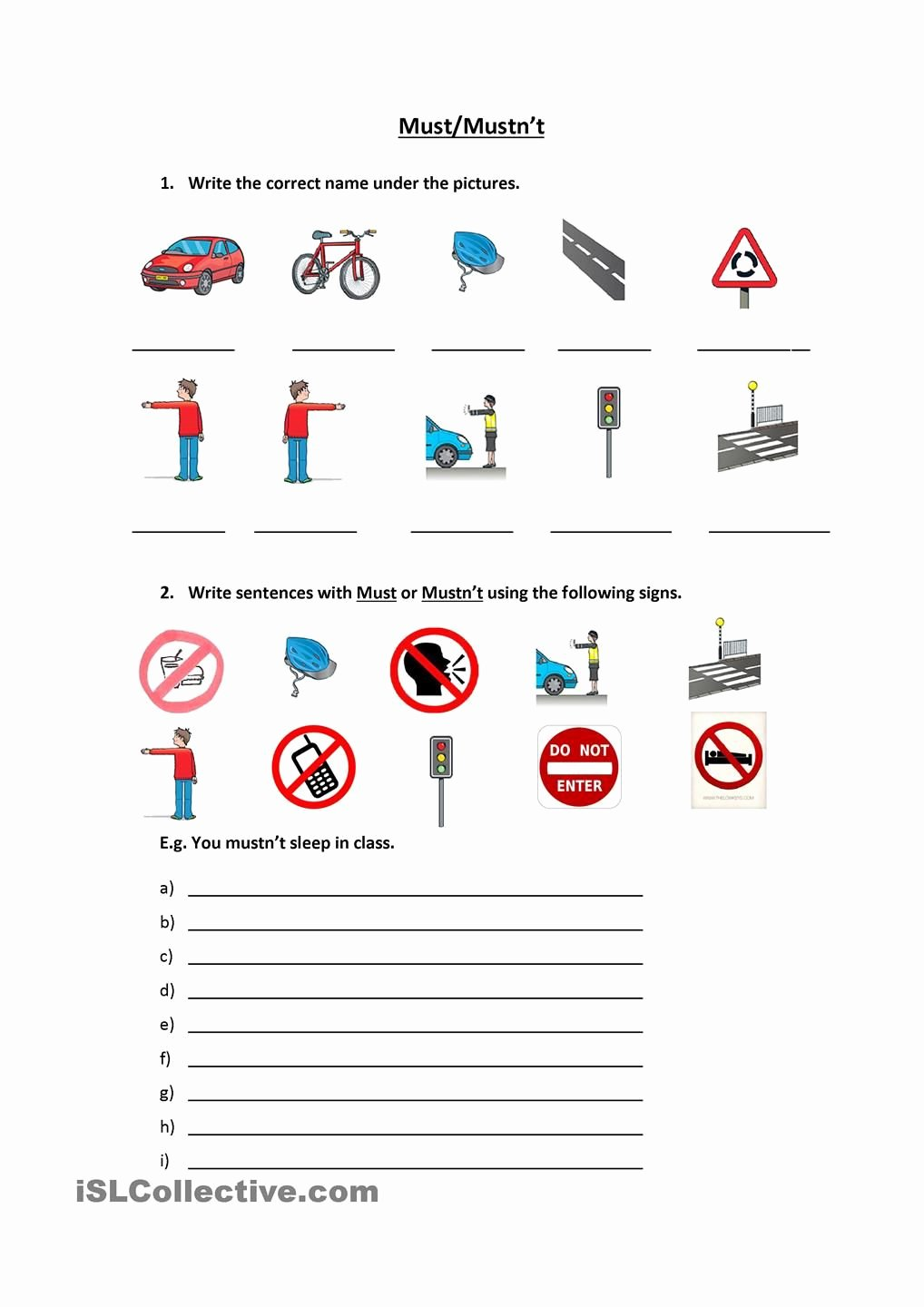 Safety Symbols Worksheet New Signs & Must Mustnt Free Esl Worksheets