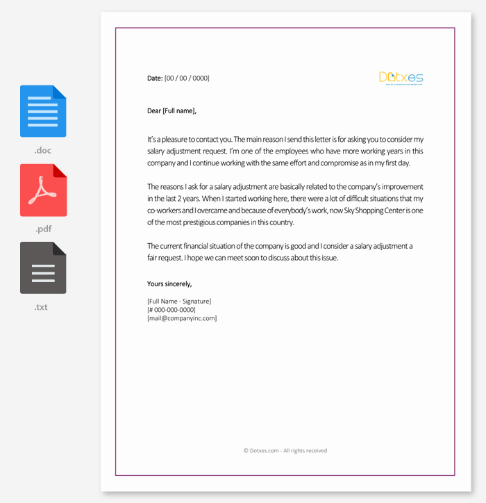 Salary Request Letter Inspirational Salary Increment Letter 14 Best Printable Samples and