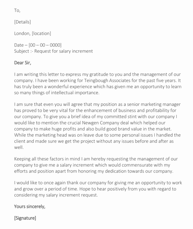 Salary Request Letter Luxury Writing A Salary Increase Letter with 12 formats & Samples