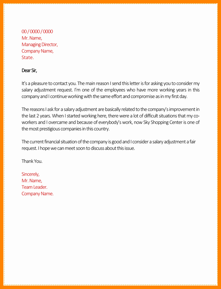 Salary Request Letter Unique 7 Salary Increase Letter Template From Employer