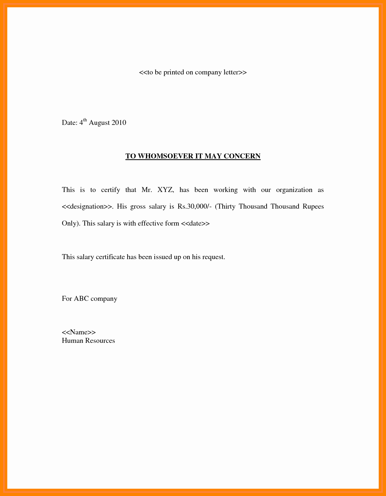 Salary Request Letters Awesome 9 Salary Confirmation Mail