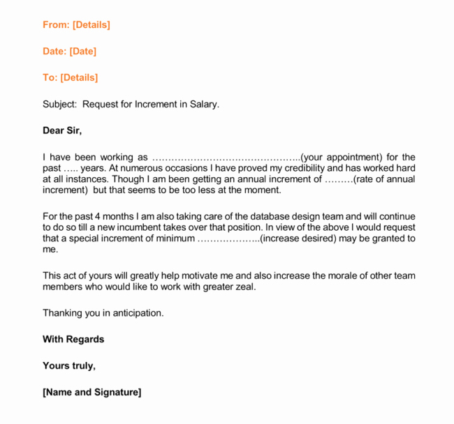 Salary Request Letters Elegant 12 Salary Increases Letter formats & Samples for Word and Pdf