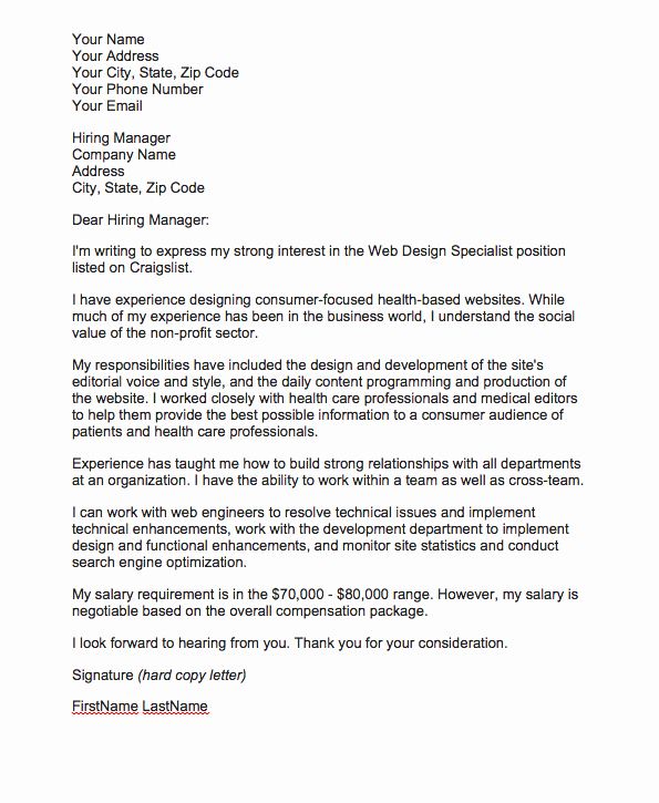 Salary Request Letters Inspirational Sample Cover Letter with Salary Expectations How to